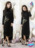 SC 13172 Black Party Wear Embroidered Georgette Kurti
