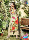 SC 12984 Beige, Pink and Red Pure Lawn Digital Print Party Wear Plazzo Suit