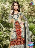 SC 12983 Brown, Black and Gray Pure Lawn Digital Print Party Wear Plazzo Suit Online