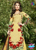SC 12982 Yellow, Green and Red Pure Lawn Digital Print Party Wear Plazzo Suit