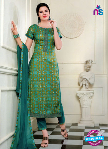 SC 13568 Sea Green and Green Designer Fancy Traditional Semi-stitched Straight Suit