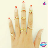 105 Exclusive Fashion Finger Rings Full Set Of Seven