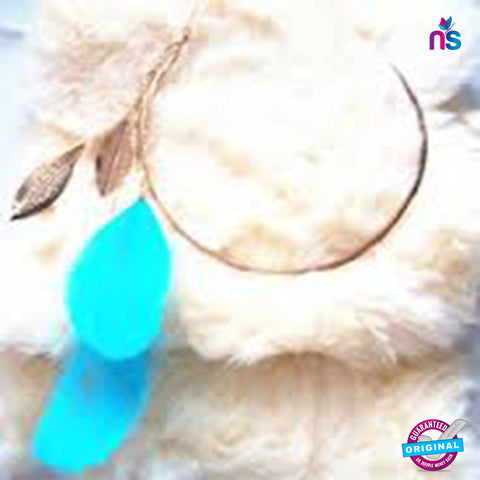 115 Exclusive High Quality Feather Gold Leaf Collar Necklace