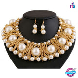 139 Exclusive Fashion Big Pearl Party Jewellery Set