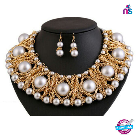 140 Exclusive Fashion Big Pearl Party Jewellery Set