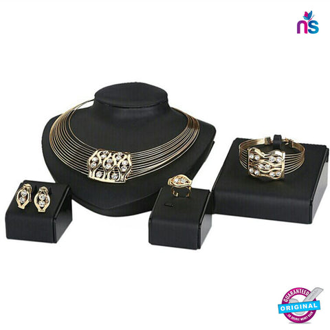 145 Exclusive Fashion Gold Plated Jewellery Set
