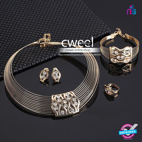 146 Exclusive Fashion Gold Plated Jewellery Set