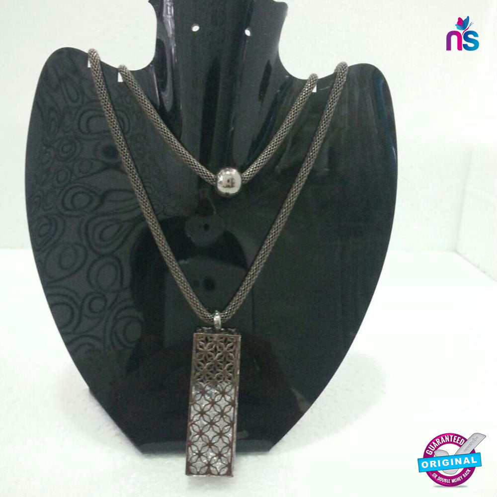 164 Exclusive Fashion Double Chain Crystal Pendant Necklace