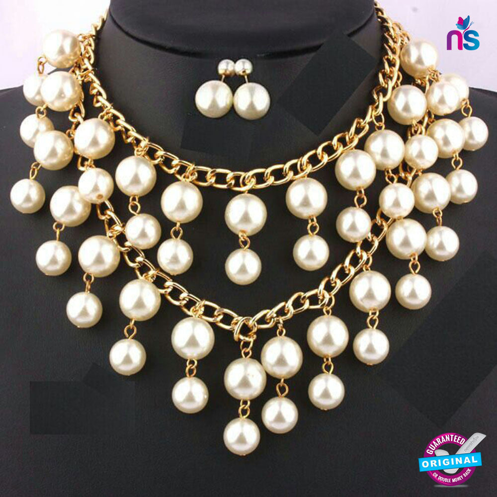 171 Exclusive Fashion Pearl Jewellery Set Including Necklace with Earrings