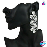176 Exclusive Fashion Luxury Silver Crystal Rhinestone Party Wear Earrings