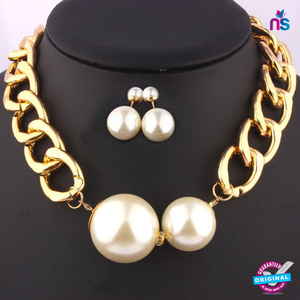 179 Exclusive Fashion Pearl Jewellery Set Including Necklace with Earrings