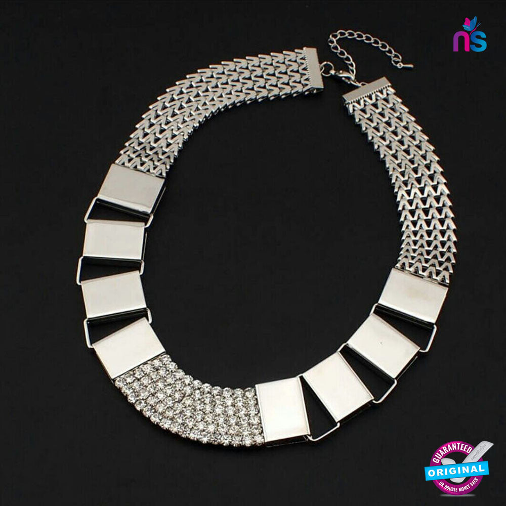 182 Exclusive Fashion Metal Chain Rhinstone Necklace
