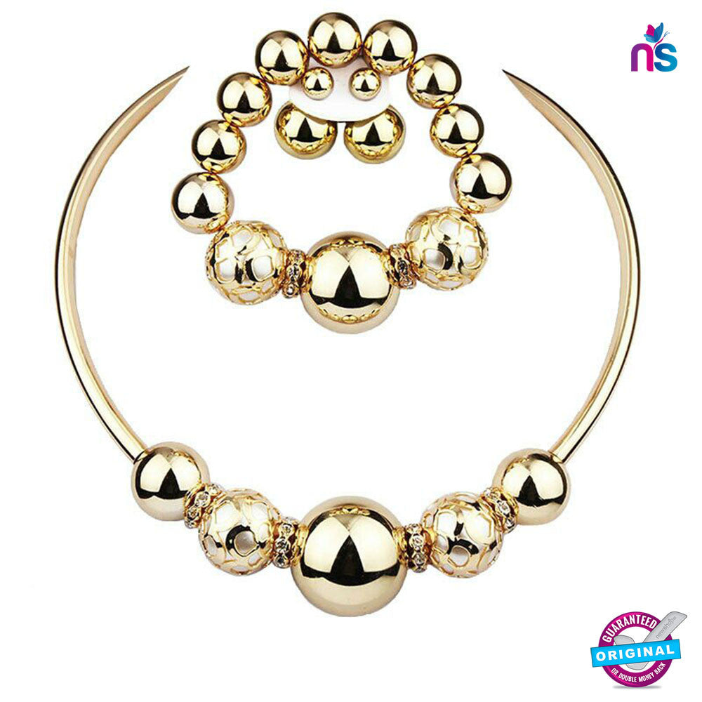 Buy 194 Exclusive Fashion Jewellery Set Including Necklace Earrings and Bracelet Online