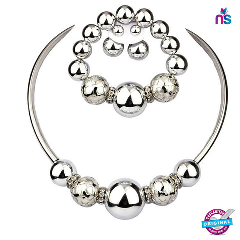 Buy 195 Exclusive Fashion Jewellery Set Including Necklace Earrings and Bracelet Online