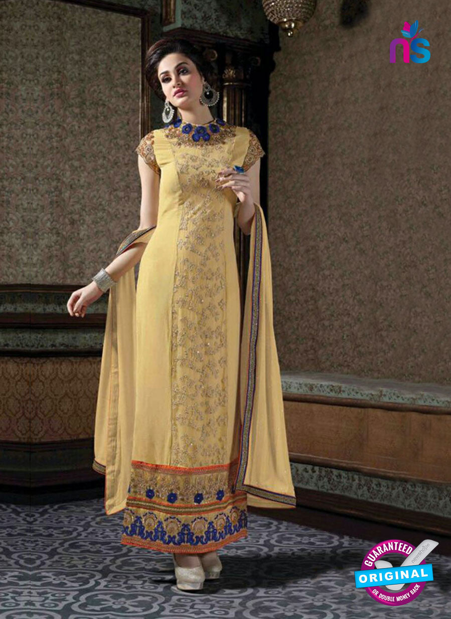 Arihant 7002 Beige Faux Georgette Party Wear Suit