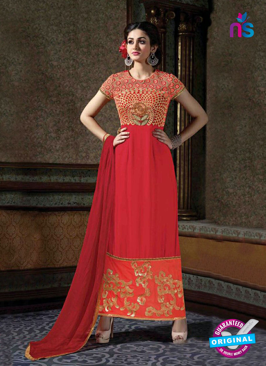 Arihant 7003 Red Faux Georgette Party Wear Suit