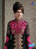 SC 14248 Black Bhagalpuri Party Wear Suit
