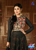 SC 14256 Black Semi Georgette Fancy Anarkali Suit