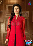 SC 14259 Red Semi Georgette Indo Western Suit Online