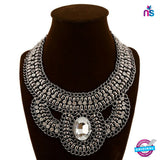 204 Exclussive Fashion heavy Vintage Choker Metal Necklace