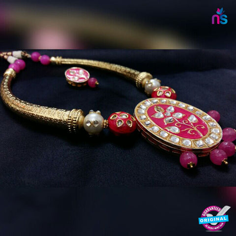 217 Exclusive Gold Plated Antique Set with High Quality Beads - Jewellery - NEW SHOP