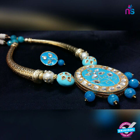218 Exclusive Gold Plated Antique Set with High Quality Beads - Jewellery - NEW SHOP