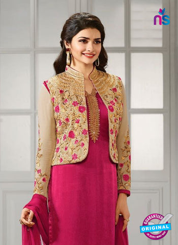 Vinay Fashion 4111 B Pink Crepe Silk Party Wear Suit