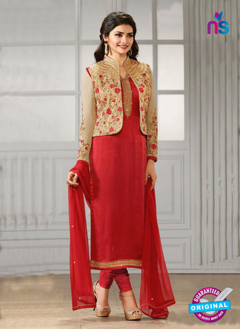 Vinay Fashion 4111 D Red Crepe Silk Party Wear Suit