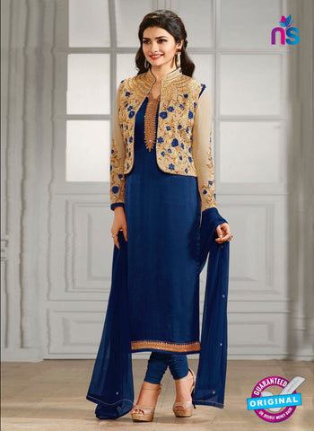 Vinay Fashion 4111 E Blue Crepe Silk Party Wear Suit
