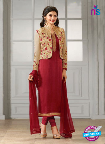 Vinay Fashion 4111 Maroon Crepe Silk Party Wear Suit