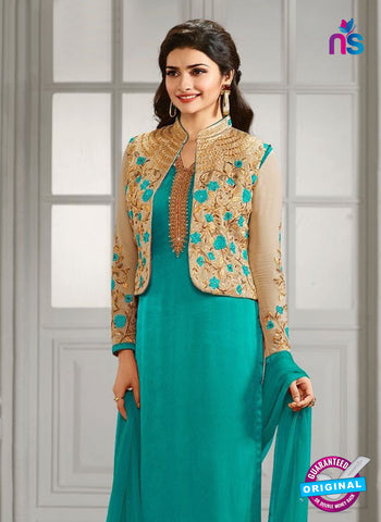 Vinay Fashion 4111 C Sky Blue Crepe Silk Party Wear Suit