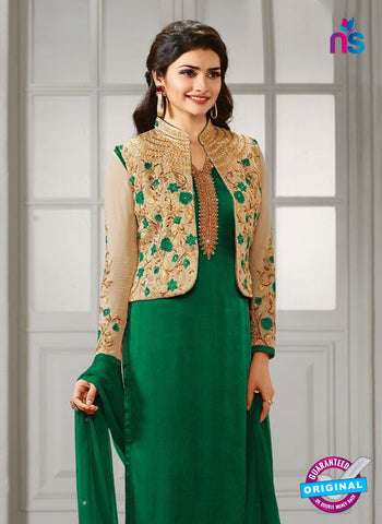 Vinay Fashion 4111 A Green Crepe Silk Party Wear Suit