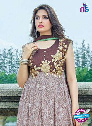 SC 14306 Brown Lawn Cotton Indo Western Suit