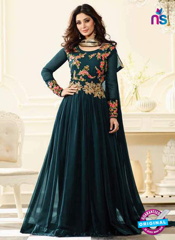 Sheesha J-182 Sea Blue Anarkali Suit
