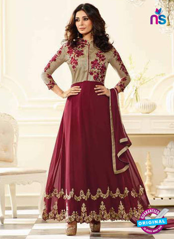 Sheesha J-184 Maroon Anarkali Suit