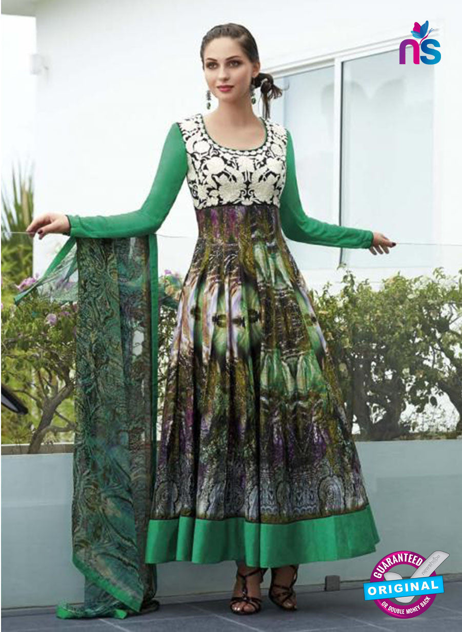 NS10808 A Iovry and Green Designer Pakistani Suit