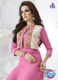 SC 13965 Pink Rayon Cotton Exclusive Designer Kurti