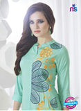 SC 13957 Sea Green Rayon Cotton Exclusive Designer Kurti