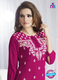 SC 13962 Pink Rayon Cotton Exclusive Designer Kurti