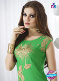 SC 13967 Green Rayon Cotton Exclusive Designer Kurti