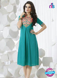 SC 13963 Sky Blue Rayon Cotton Exclusive Designer Kurti