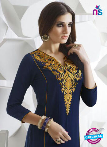 SC 13952 Dark Blue Rayon Cotton Exclusive Designer Kurti Online
