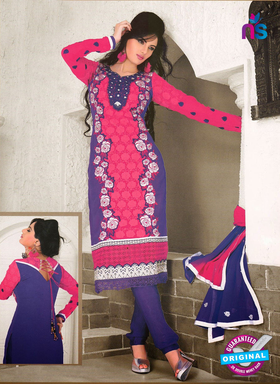 NS10971 Designer Georgette Sraight Suit