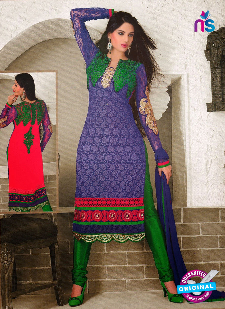 NS10973 Designer Georgette Sraight Suit