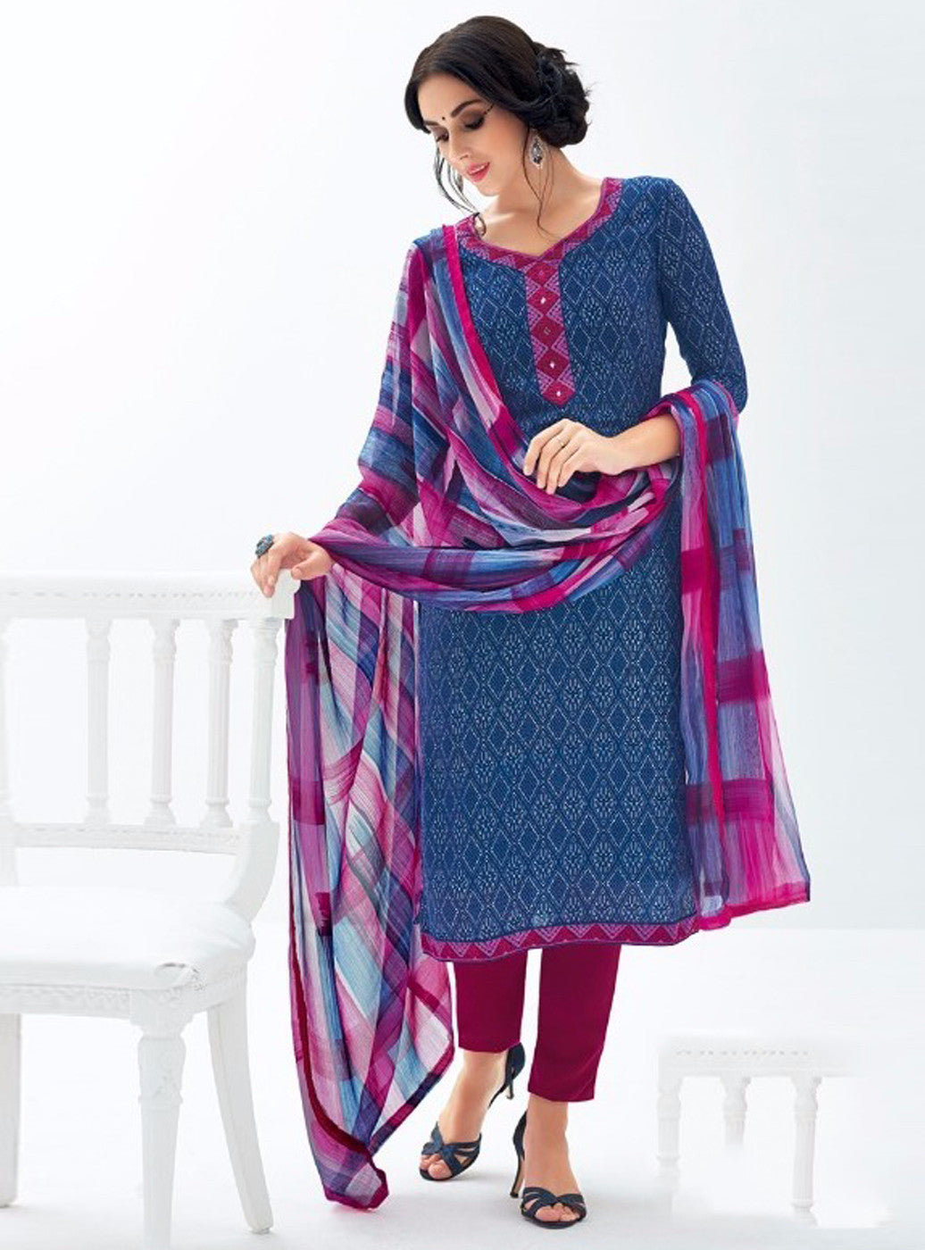 Kalakirti 1901 Blue Color Pashmina Salwar Suit