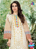 NS10862 Beige and White Lawn Cotton Pakistani Suit Online