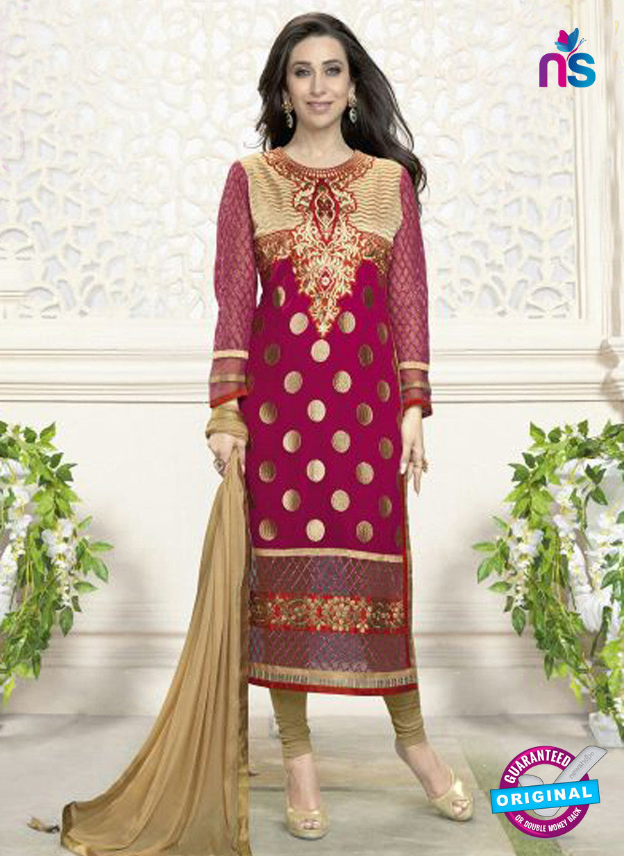 NS10861 I Black and Orange Embroidered Georgette Straight Suit