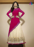 SC 12470 Pink and Beige Party Wear Georgette Suit