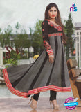 NS10887 Black and Red Georgette Anarkali Suit