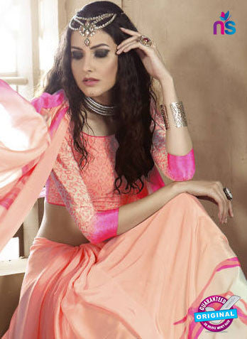 LT 1002 Peach Casual Saree
